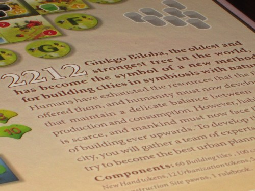 The thematic explanation on the back of the box. Not a great gateway into the game, in my opinion.