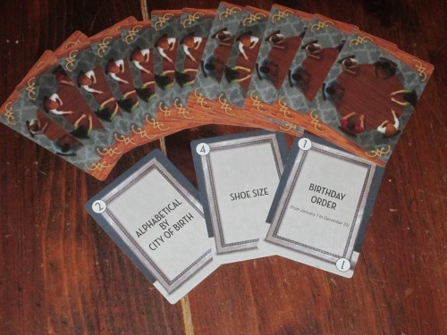 Between Two Cities comes with cards to help the players determine seating order. This is a great idea and acts as kind of an icebreaker. Some of these ideas are better than others, but kudos to the publisher for including them.