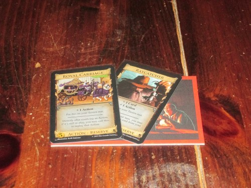 A new card type (reserve) allows cards to be placed on your tavern mat until called. This is a great way to control when cards are played.