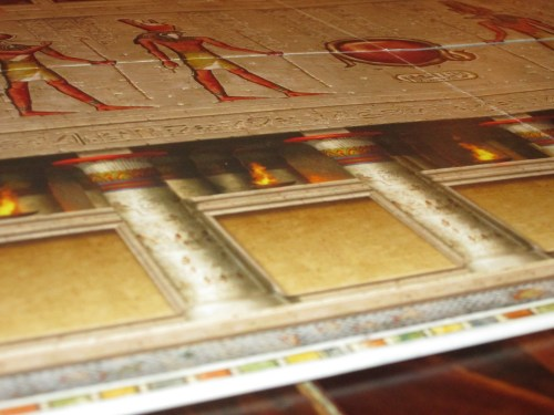 The game board for this edition of Ra is EMBOSSED. I tried to capture this effect on camera. It's stunning in person.