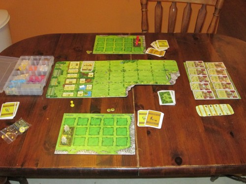 Agricola set up for two.