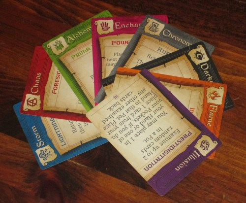 There are eight different spell books in the game, each with three distinct spells. That's a lot of variety, since each book plays completely differently.