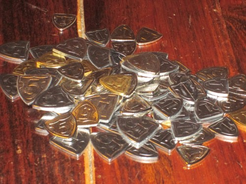 The victory tokens in Dominion: Empires (and Prosperity--I keep them mixed together).