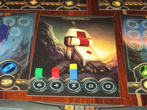 Ties are friendly, and there isn't much of a point differential between the different scoring positions, making points scarce. This incentivizes players contributing to each structure and collecting bonus tokens, a shift from Tower of Babel.