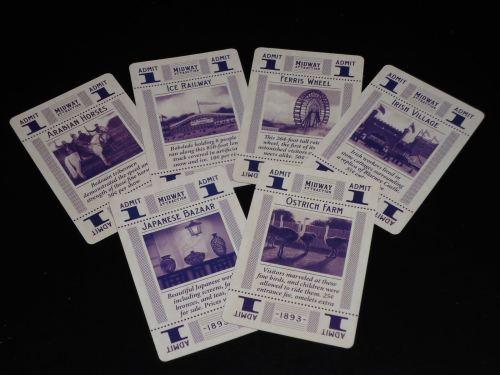 World's Fair 1893 - Ticket Cards