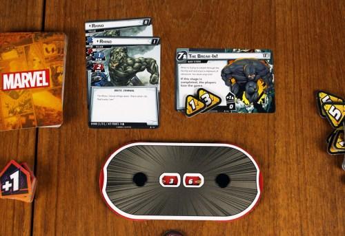 Rhino villain and main scheme cards