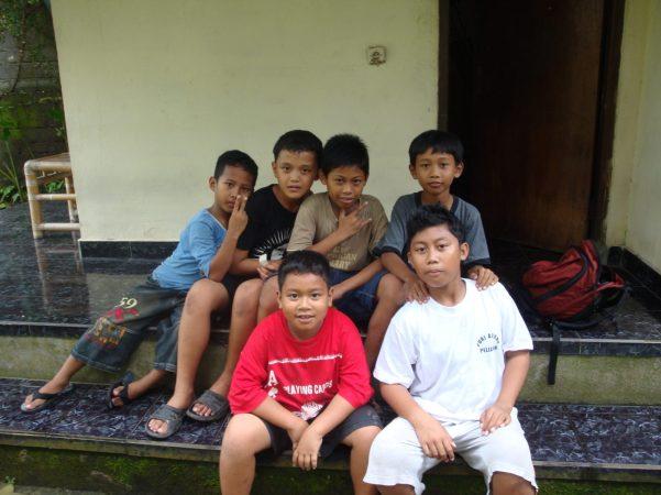 Balinese Boys, Ubud, Bali, Indonesia