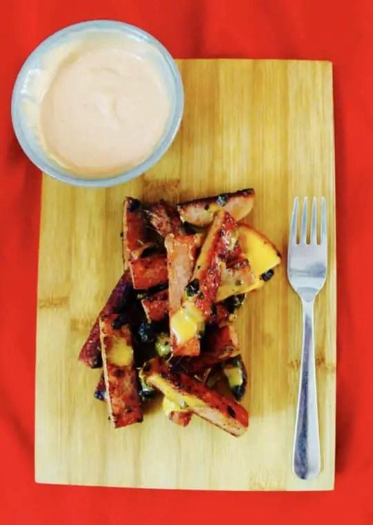 Spam, cheese, garlic & thousand island dressing breakfast
