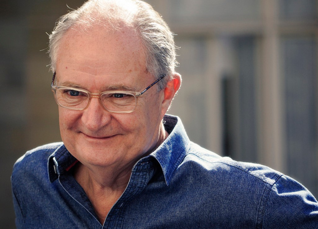 Jim Broadbent, actor famous for his role as Professor Slughorn in the Harry Potter movies.