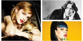 Montage of Emma Watson, Oscar Wilde, and Lily Allen