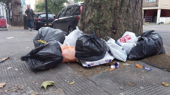 Illegal dumping in Islington