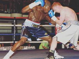 Kian 'Tec' Thomas boxing at York Hall