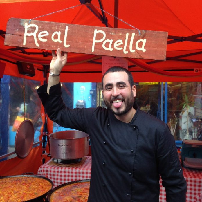 "Shanti Gimenez, owner of Real Paella, is originally from Murcia in Spain and is passionate about pork. ""The paella from my home town has pork-loin and pork sausage in it. Similar to chorizo but the taste isn't quite as strong."""