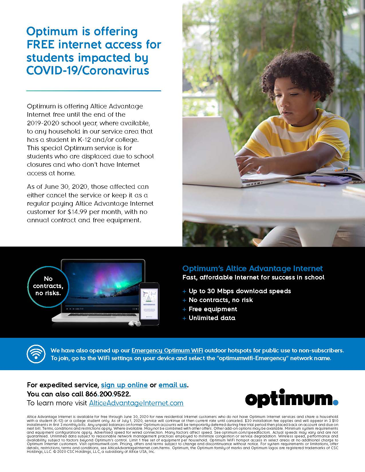 Optimum For Laptop : optimum, laptop, Optimum, Offering, Internet, Access, Students, Impacted, COVID-19