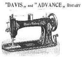 Four Davis Sewing Machines