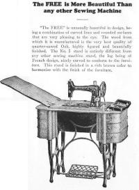 Free Number 5 Treadle Sewing Machine