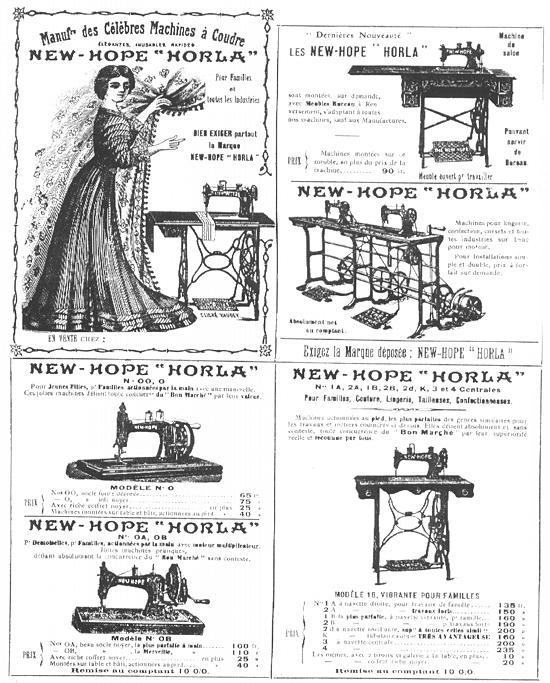 French New Home Sewing Machine Advertisement