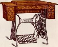 Singer Sewing Machine Cabinet Tables No. 2 and No. 3