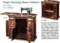 Singer Sewing Machine Drawing Room Cabinets No. 31 and 32
