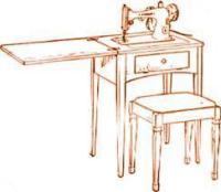Singer Sewing Machine Cabinet No. 72