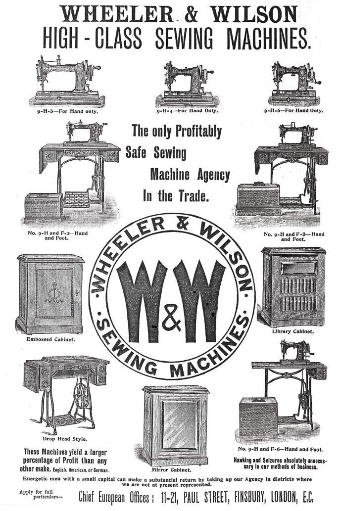 Wheeler & Wilson D9 Sewing Machine Advertisement
