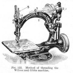 Viking Sewing Machine Diagram Photocell Sensor Circuit Willcox & Gibbs Threading