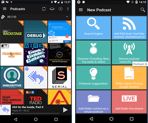 Podcast & Radio Addict android