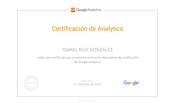 certificacion oficial google analytics