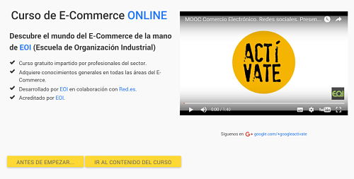 curso de e-commerce google activate