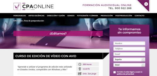 curso online cpa diseño