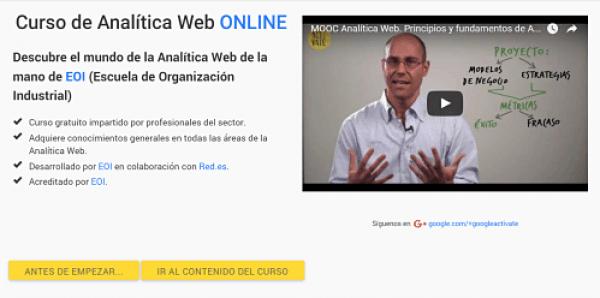 curso online gratis analitica activate