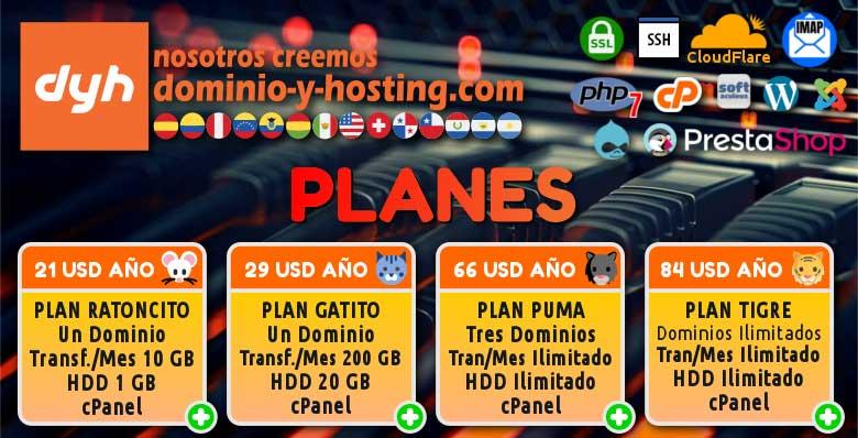 DOMINIO Y HOSTING para alojar tu blog o Web