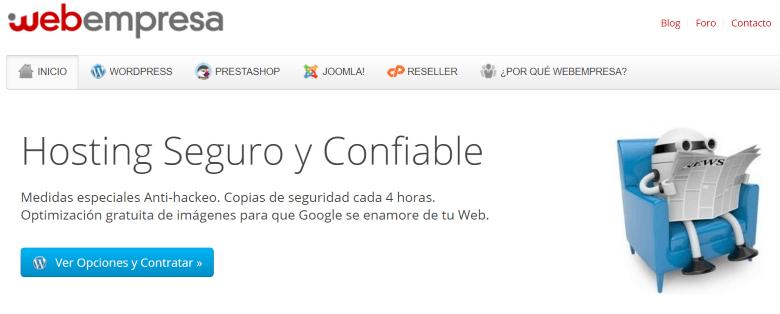 webempresa empresa hosting españa
