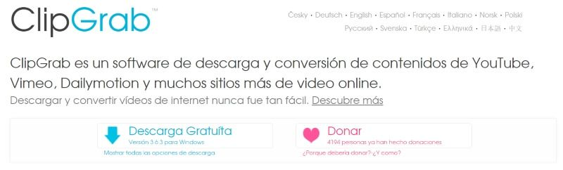 Clipgrab descargar musica y videos de youtube gratis