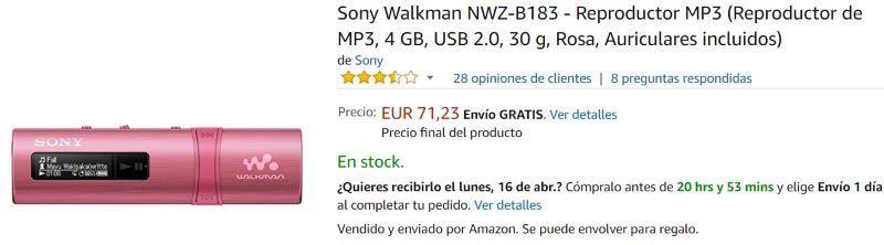 Sony Walkman NWZ-B183