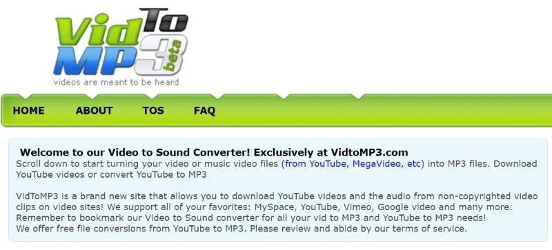 Vidtomp3 descargar musica y video de youtube