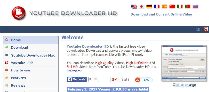 YouTube Downloader HD descarga gratis
