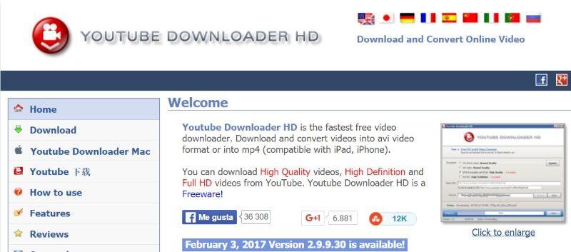 YouTube Downloader HD descarga gratis