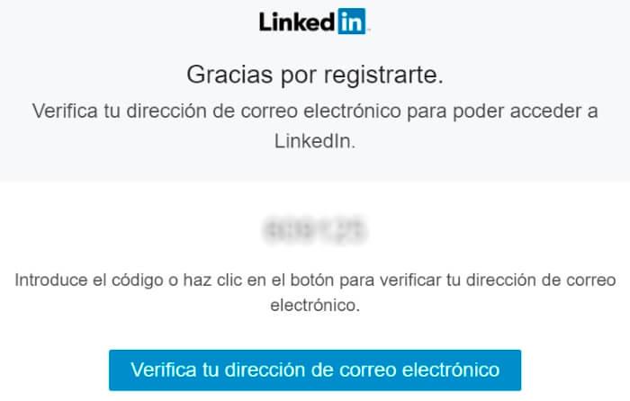 correo de verificacion de la cuenta de linkedin