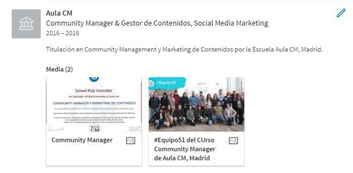 contenido multimedia enformacion de linkedin españa