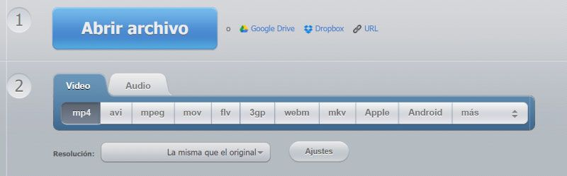 Convert Video Online (123 Apps)