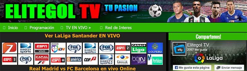 EliteGolTV, la mejor página para ver fútbol ¡EN VIVO!
