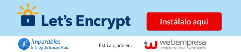 Certificado SSL gratuito de Webempresa