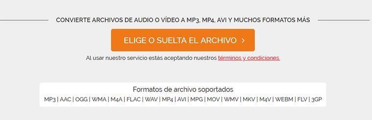 """Método 2: Conversiones audiovisuales con """"Online Video Converter"""" desde PC, Mac o la nube"""