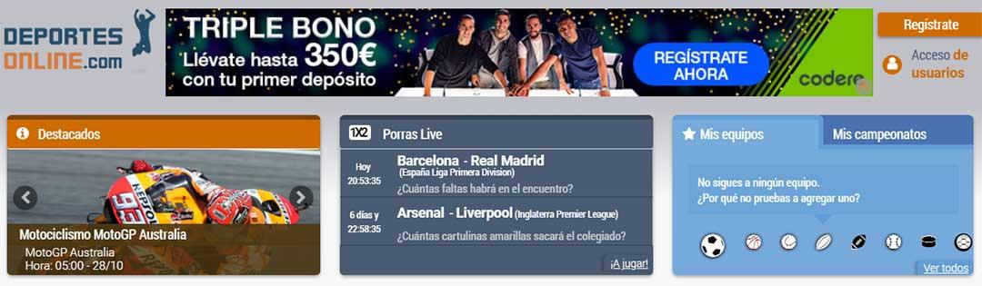 DEPORTES ONLINE, la Web para ver fútbol Gratis