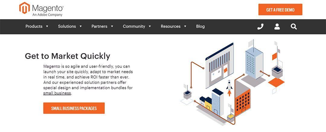 Magento, software para montar tiendas online
