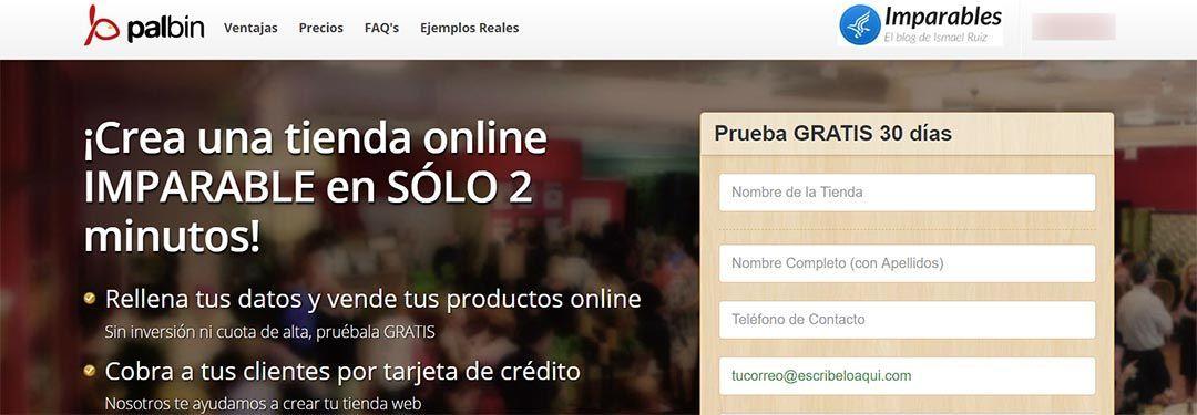 Crea tu tienda online con Palbin.com