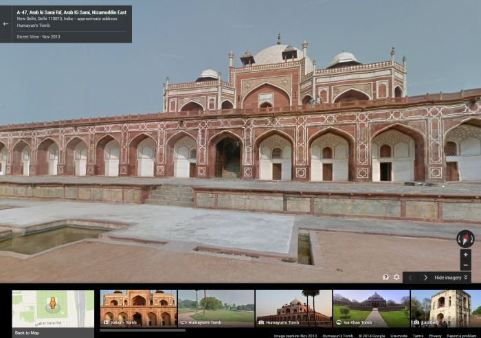 Stroll Through The Grounds Of Humayun's Tomb Using Google Street