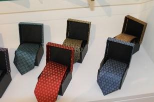 Italian silk ties based on AKM motifs.