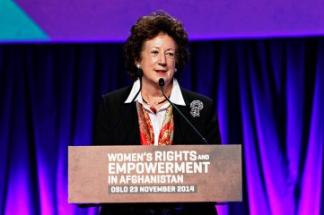 Symposium on Women's Rights and Empowerment in Afghanistan - Baroness Joyce Anelay, Minister of State at the Foreign and Commonwealth Office in United Kingdom (Photo: Norway MFA/ Kilian Munch)